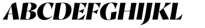 Proza Display Black Italic Font UPPERCASE