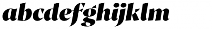 Proza Display Black Italic Font LOWERCASE
