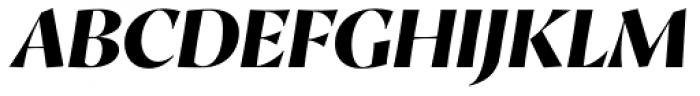 Proza Display Extra Bold Italic Font UPPERCASE