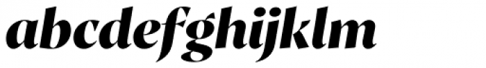 Proza Display Extra Bold Italic Font LOWERCASE