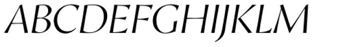 Proza Display Light Italic Font UPPERCASE