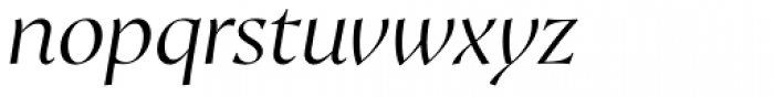 Proza Display Light Italic Font LOWERCASE