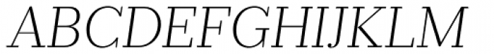 Prumo Banner ExtraLight Italic Font UPPERCASE