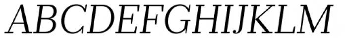 Prumo Banner Light Italic Font UPPERCASE