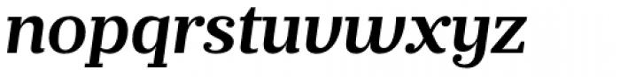 Prumo Banner SemiBold Italic Font LOWERCASE