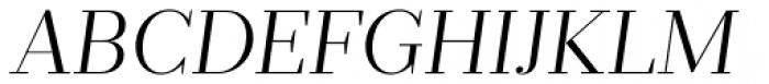 Prumo Deck Light Italic Font UPPERCASE