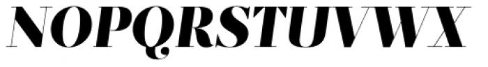 Prumo Display Black Italic Font UPPERCASE