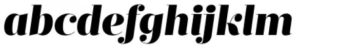 Prumo Display Black Italic Font LOWERCASE