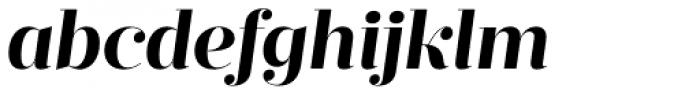 Prumo Display Bold Italic Font LOWERCASE