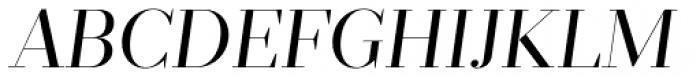 Prumo Display Book Italic Font UPPERCASE