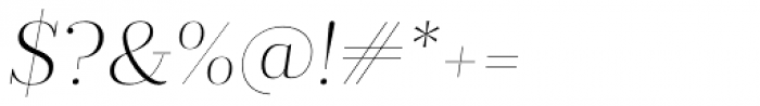 Prumo Display ExtraLight Italic Font OTHER CHARS