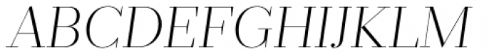 Prumo Display ExtraLight Italic Font UPPERCASE