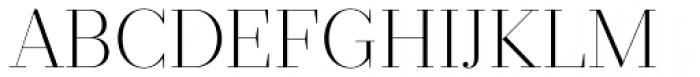 Prumo Display ExtraLight Font UPPERCASE