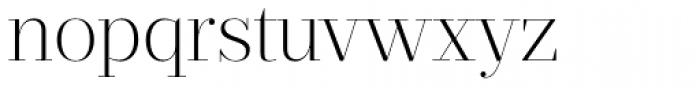 Prumo Display ExtraLight Font LOWERCASE