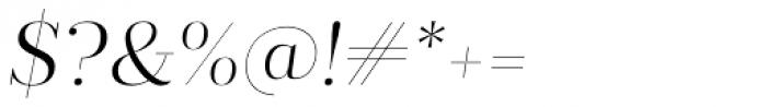 Prumo Display Light Italic Font OTHER CHARS