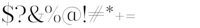 Prumo Display Light Font OTHER CHARS