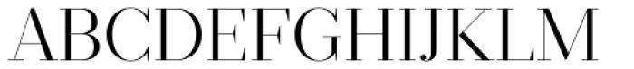 Prumo Display Light Font UPPERCASE
