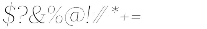 Prumo Display Thin Italic Font OTHER CHARS