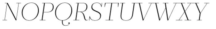 Prumo Display Thin Italic Font UPPERCASE