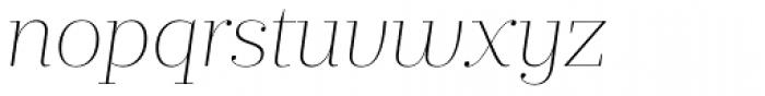 Prumo Display Thin Italic Font LOWERCASE