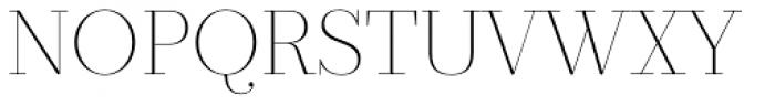 Prumo Display Thin Font UPPERCASE