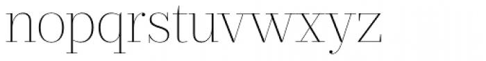 Prumo Display Thin Font LOWERCASE