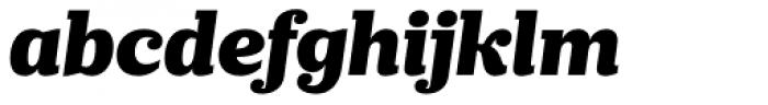 Prumo Slab Black Italic Font LOWERCASE