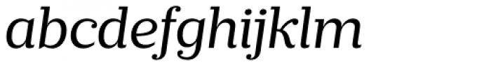 Prumo Slab Book Italic Font LOWERCASE