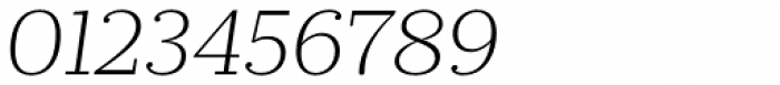 Prumo Slab ExtraLight Italic Font OTHER CHARS