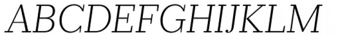 Prumo Slab ExtraLight Italic Font UPPERCASE