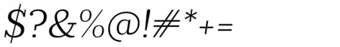 Prumo Slab Light Italic Font OTHER CHARS