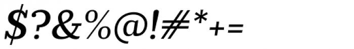 Prumo Slab Medium Italic Font OTHER CHARS