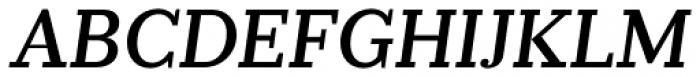 Prumo Slab Medium Italic Font UPPERCASE