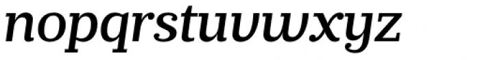 Prumo Slab Medium Italic Font LOWERCASE