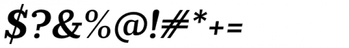 Prumo Slab SemiBold Italic Font OTHER CHARS