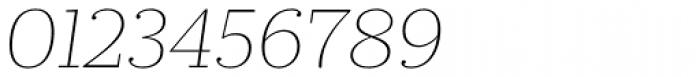 Prumo Slab Thin Italic Font OTHER CHARS