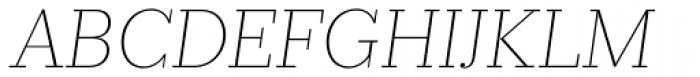 Prumo Slab Thin Italic Font UPPERCASE