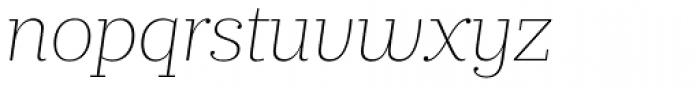 Prumo Slab Thin Italic Font LOWERCASE