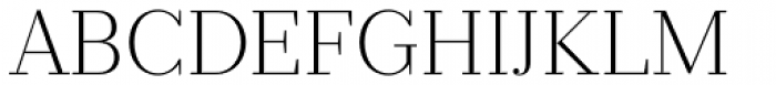 Prumo Text ExtraLight Font UPPERCASE