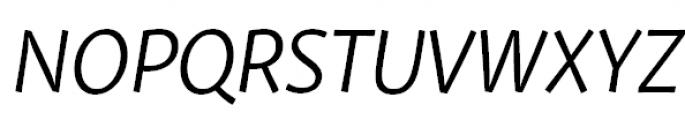Private Sans Italic Font UPPERCASE