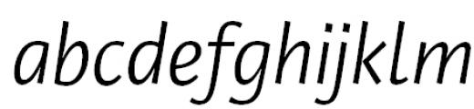 Private Sans Italic Font LOWERCASE