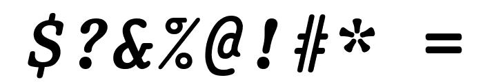Prestige Bold Oblique Font OTHER CHARS