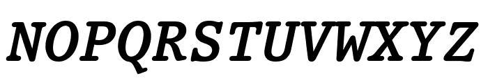 Prestige Bold Oblique Font UPPERCASE