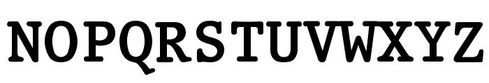 Prestige Bold Font UPPERCASE