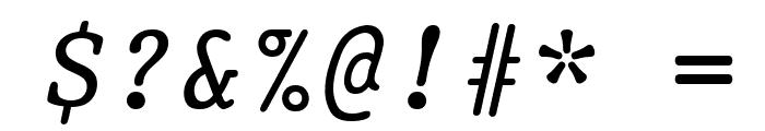 Prestige Oblique Font OTHER CHARS