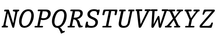Prestige Oblique Font UPPERCASE