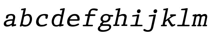 Prestige Oblique Font LOWERCASE