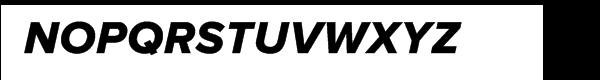 Proxima Nova Extrabold Italic Font UPPERCASE