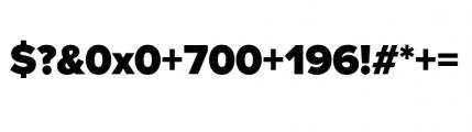 Proxima Nova Black Font OTHER CHARS