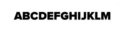 Proxima Nova Black Font UPPERCASE
